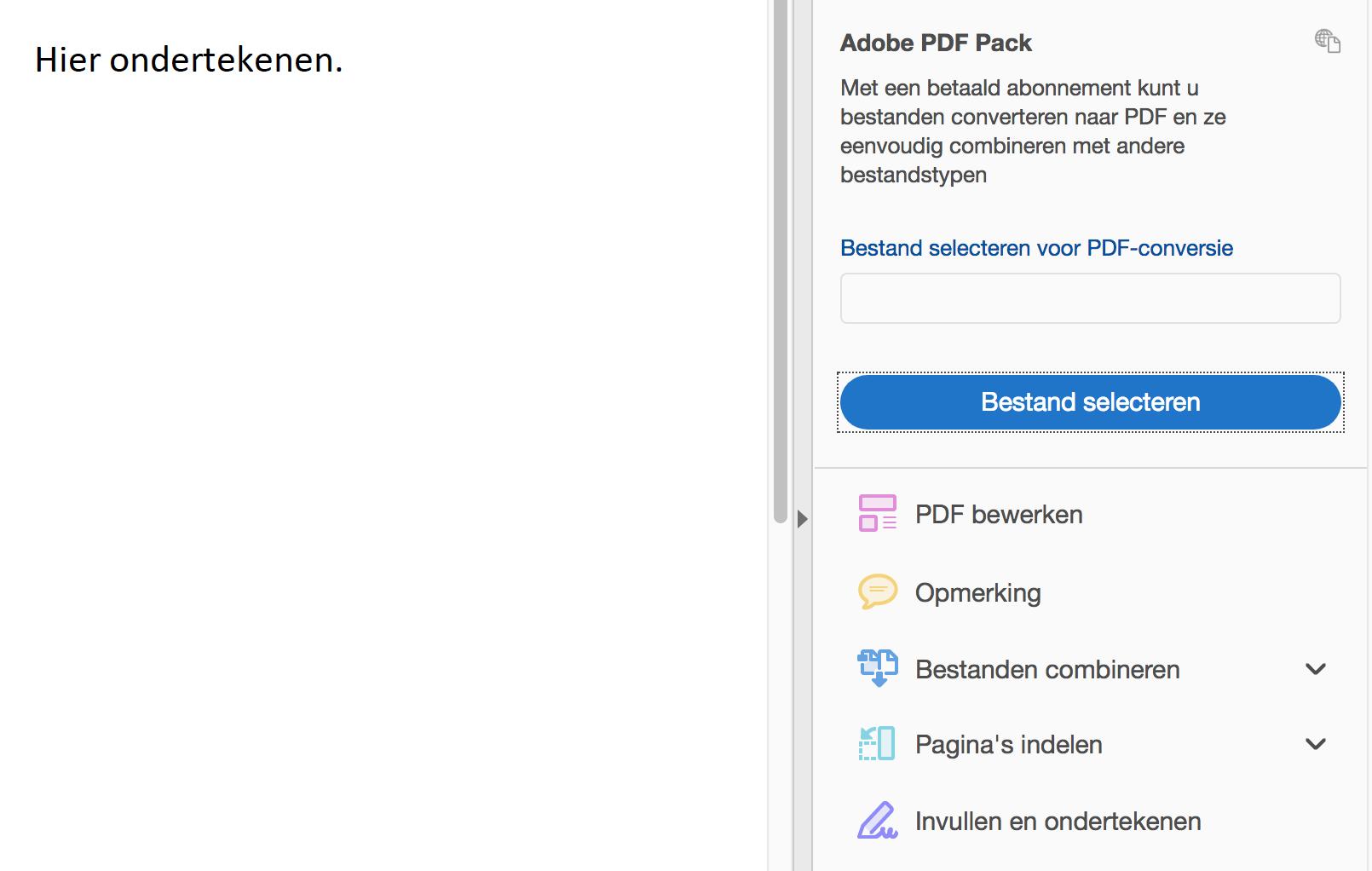 PDF ondertekenen