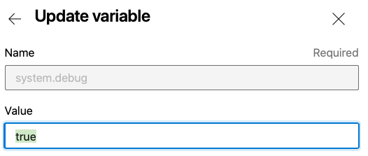 change the value of the variable